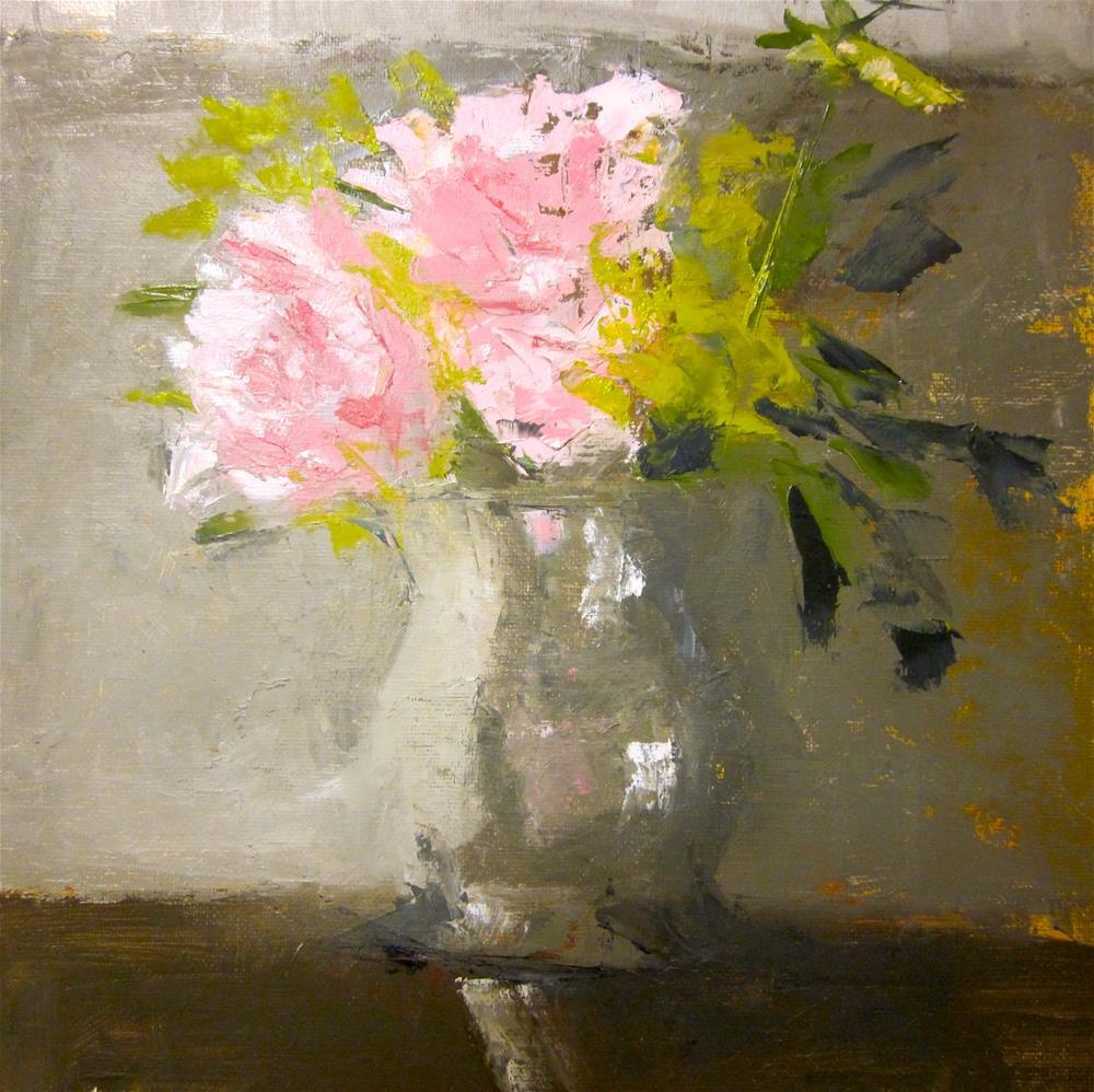 """Peonies"" original fine art by Carol Wiley"
