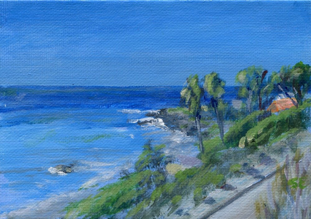 """A View of Malibu from Highway 1"" original fine art by Stanley Epperson"
