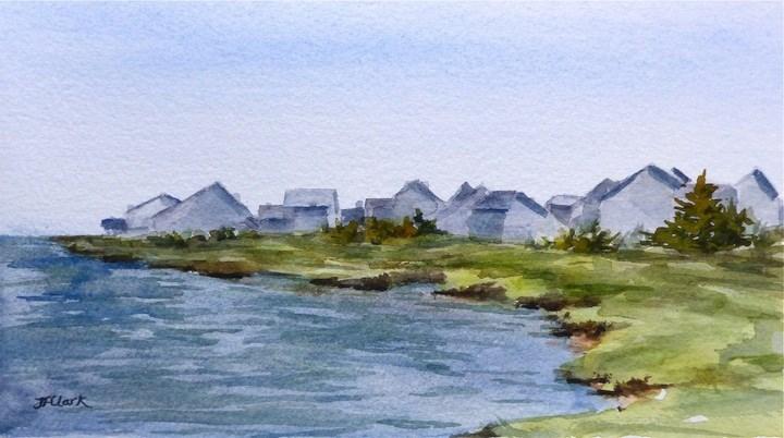 """Swan River, Dennisport, MA"" original fine art by Judith Freeman Clark"