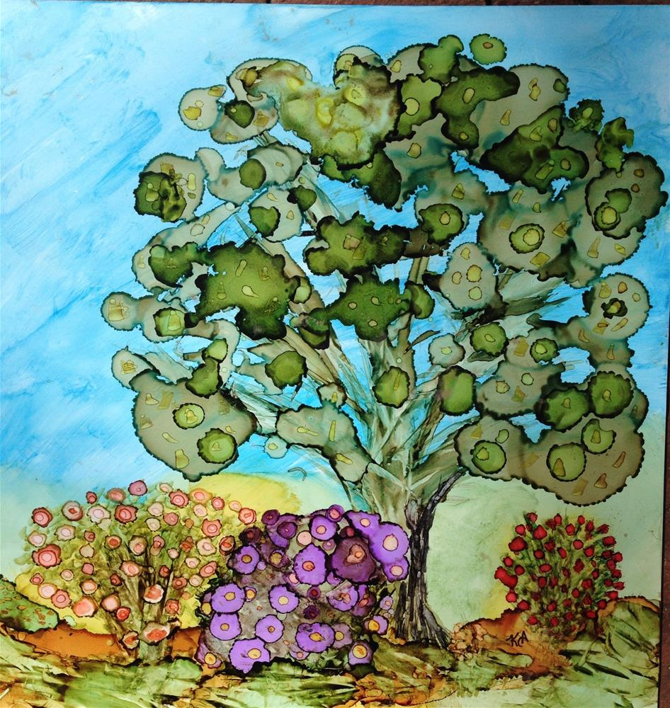 """Flowering Oasis"" original fine art by Kris Alge"