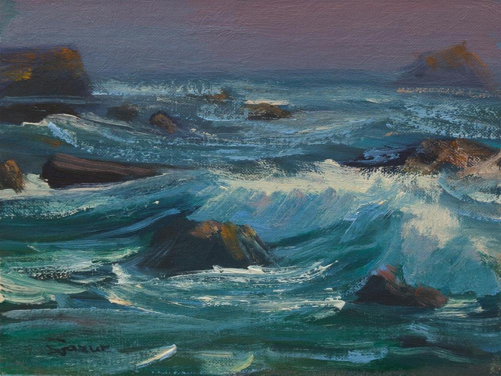 """Prewitt Creek in Big Sur 6x8"" original fine art by Pavel Gazur"