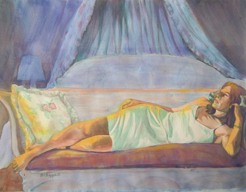 """Afternoon Repose"" original fine art by Becky Chappell"