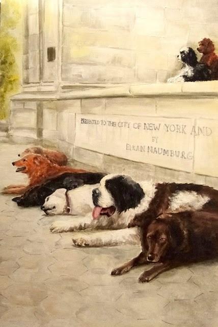 """Dogs of New York"" original fine art by Karen Robinson"