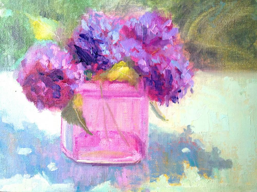 """""""In The Pink"""" original fine art by Johanna Spinks"""