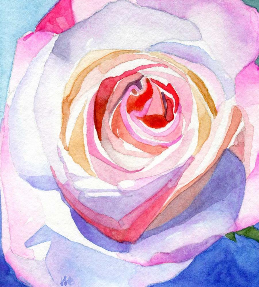"""Rainbow Rose"" original fine art by Heather Bennett"