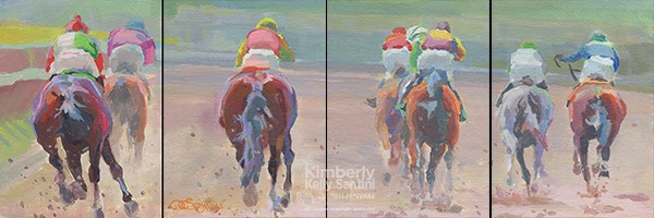 """Tail Lights"" original fine art by Kimberly Santini"