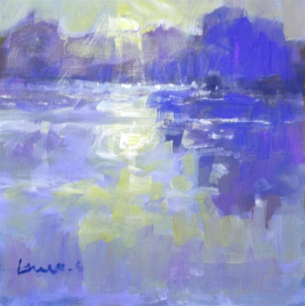 """""""morningthe pond"""" original fine art by salvatore greco"""