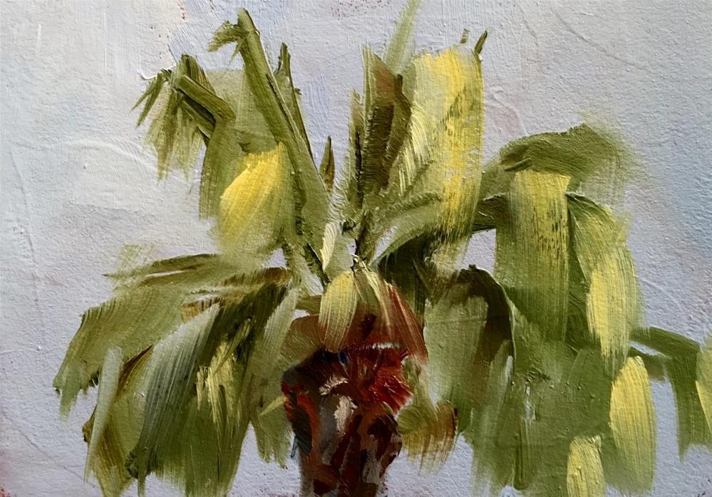 """""""Palm Plein Air Palm Springs"""" original fine art by Gary Bruton"""