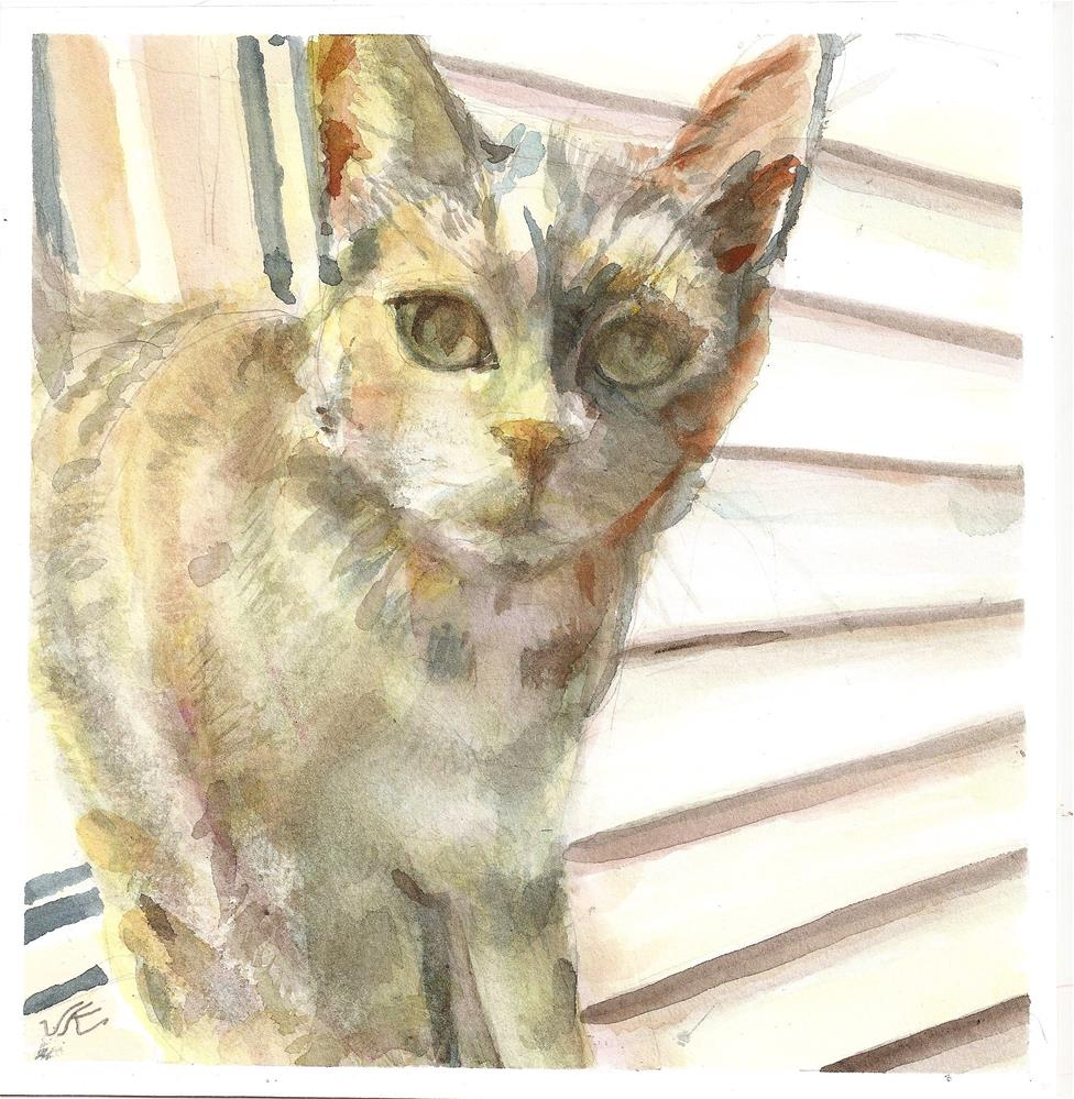 """Outdoor Cat"" original fine art by Jean Krueger"