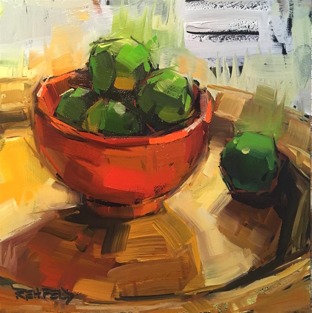 """Key Limes"" original fine art by Cathleen Rehfeld"