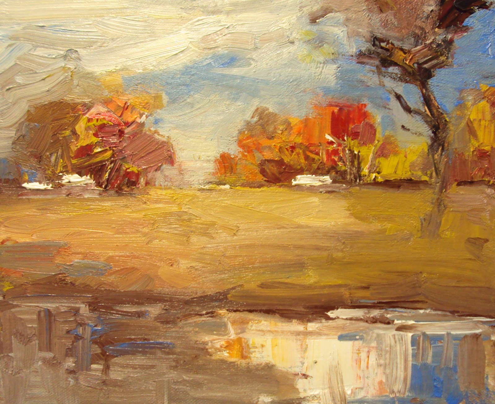 """shades of fall"" original fine art by Parastoo Ganjei"