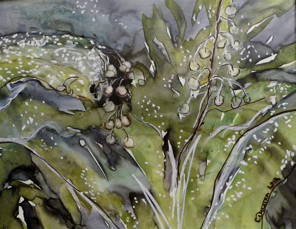 """""""Lily of the Valley"""" original fine art by Cathy Dykstra"""
