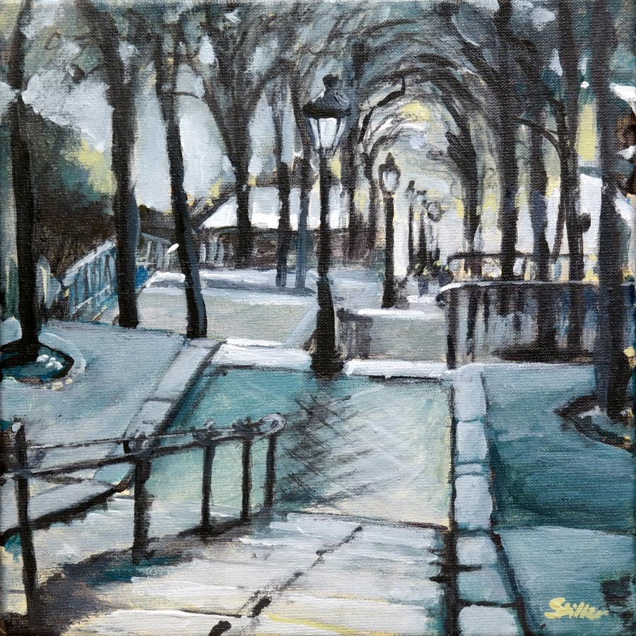 """1552 Montmartre"" original fine art by Dietmar Stiller"