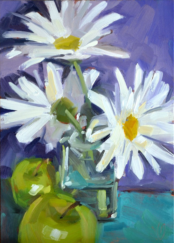 """Daisies"" original fine art by Jessica Green"
