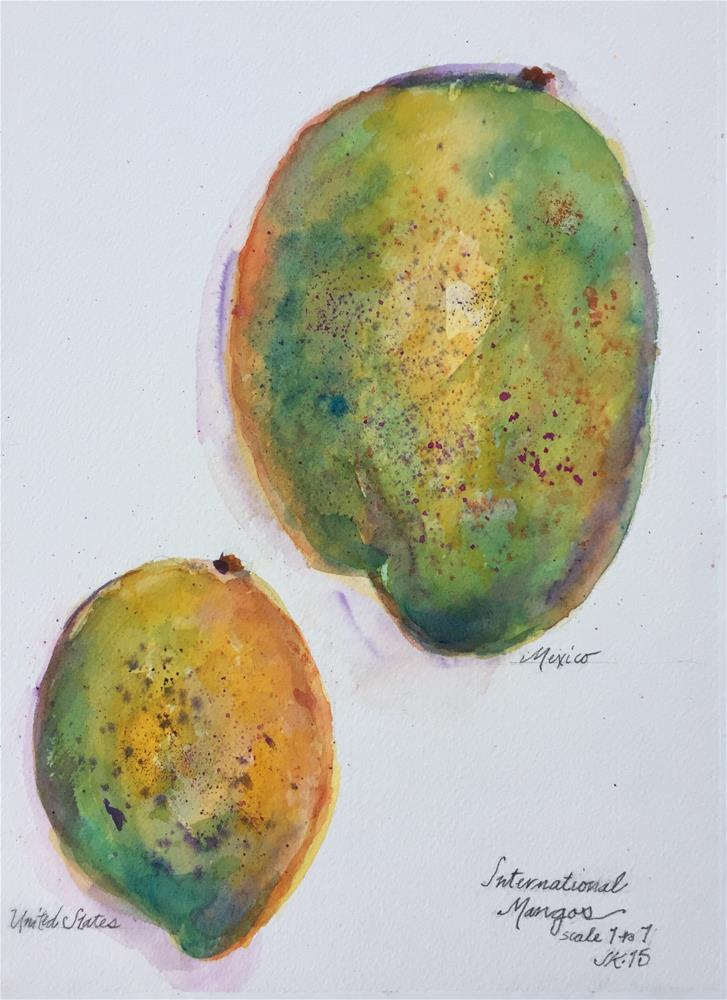 """International Mangos"" original fine art by Jean Krueger"