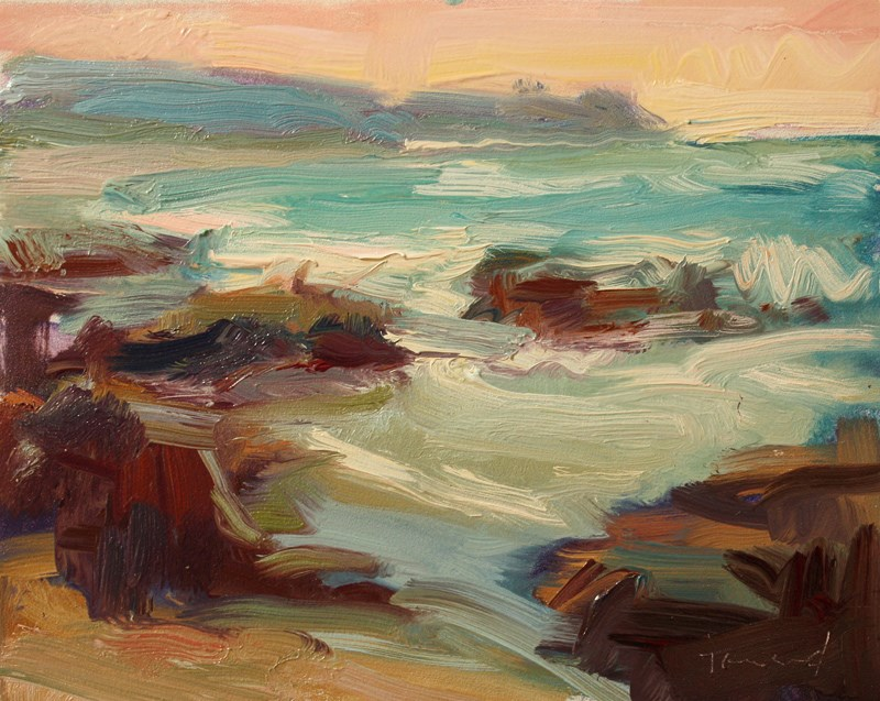"""Asilomar Bay"" original fine art by Kathryn Townsend"