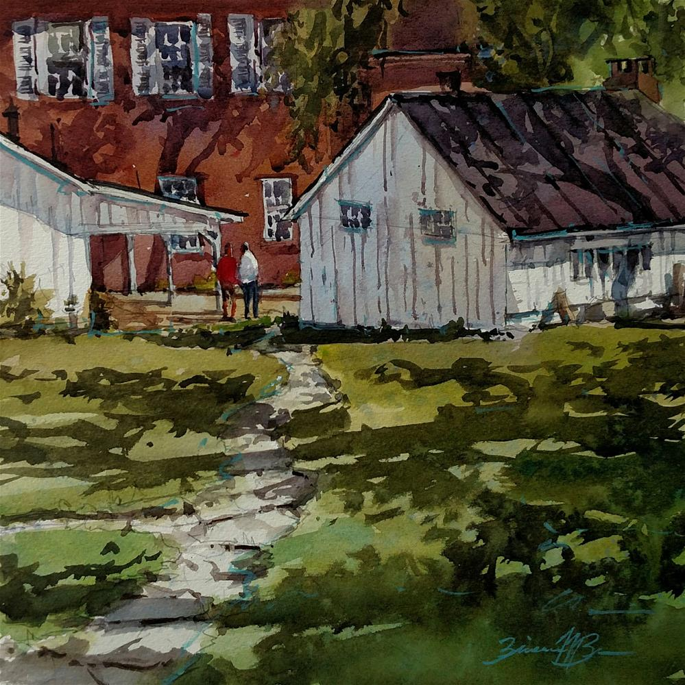 """Linden Hall Shadows"" original fine art by Brienne M Brown"