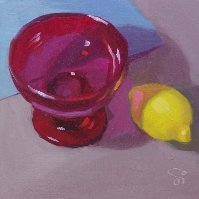 """""""Red Shadow"""" original fine art by Istvan Schaller"""