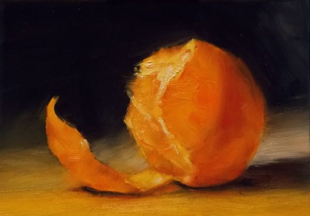 """Orange"" original fine art by Ruth-Ann Carlock"