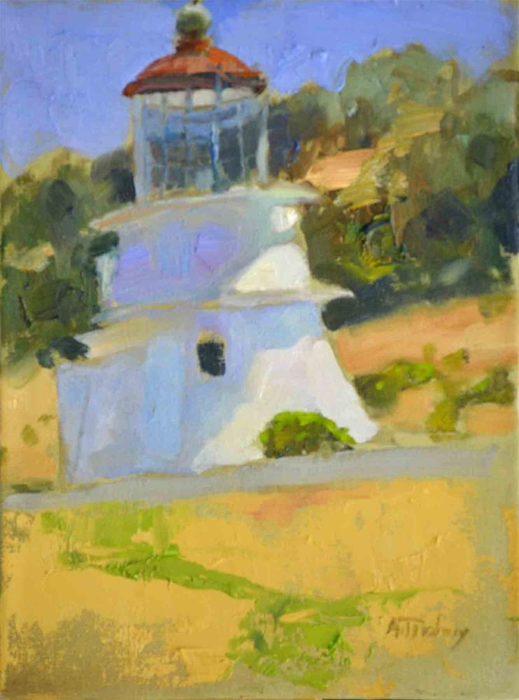 """Shelter Cove Lighthouse, June"" original fine art by alicia tredway"