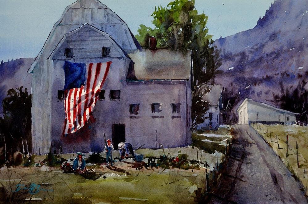 """American Heritage"" original fine art by Brienne M Brown"