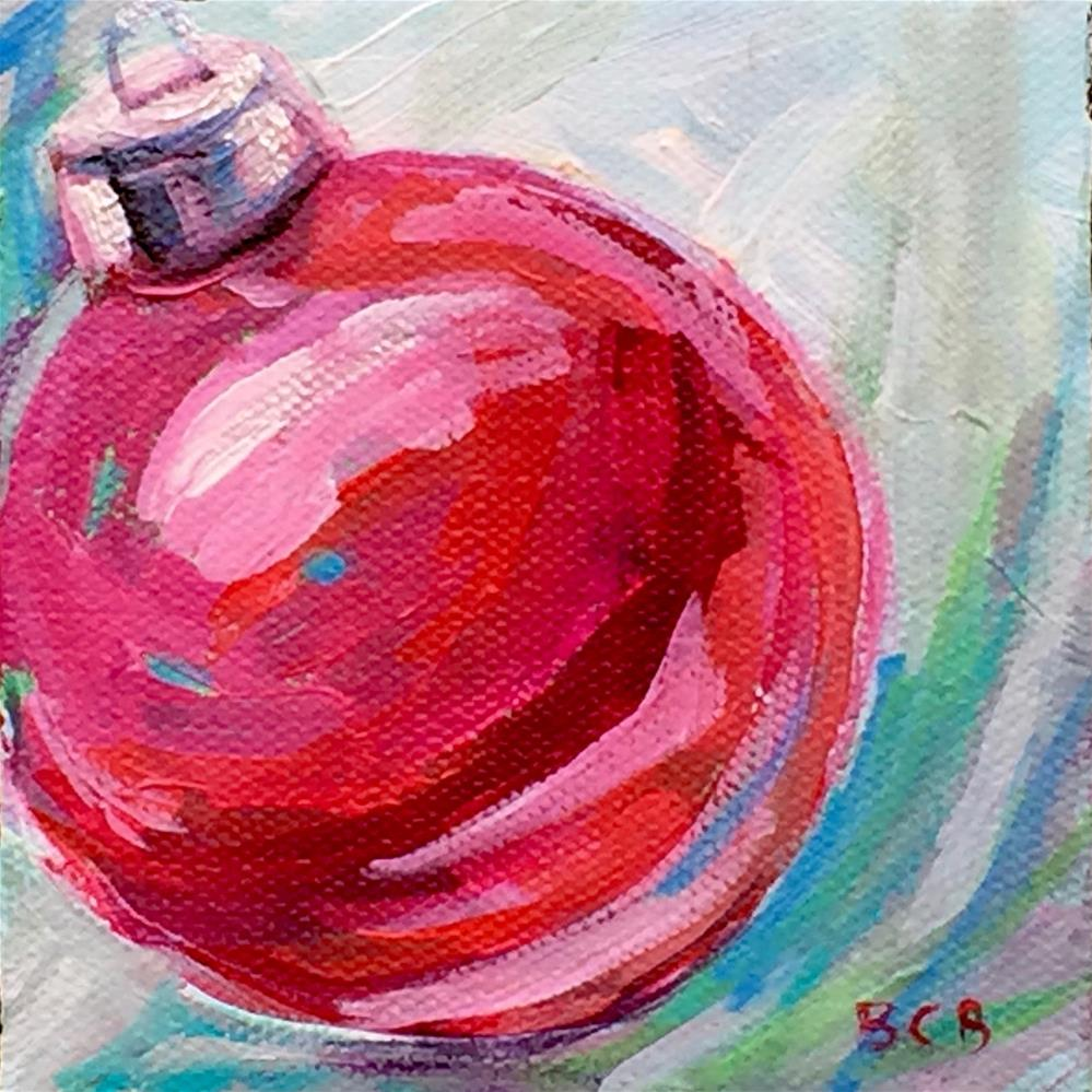 """Holiday Ornament-6"" original fine art by Beth Carrington Brown"