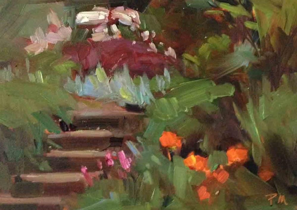 """Mary's Garden"" original fine art by Patti McNutt"