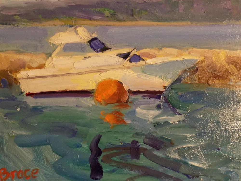 """Plymouth Harbor"" original fine art by Rita Brace"