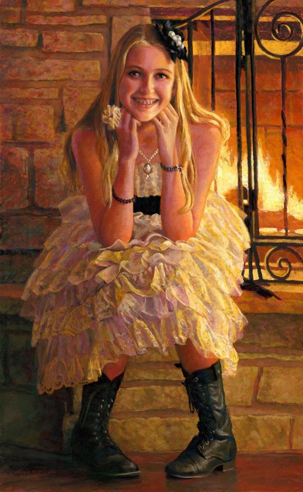 """Haley May - A Portrait Commission"" original fine art by Rita Kirkman"