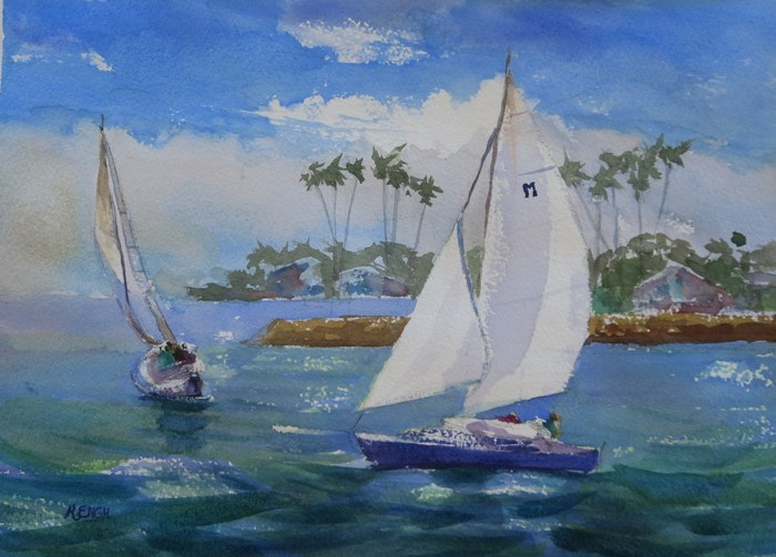 """Sail Away"" original fine art by Katharine Engh"