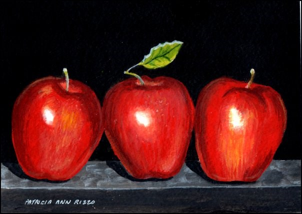 """An Apple A Day"" original fine art by Patricia Ann Rizzo"
