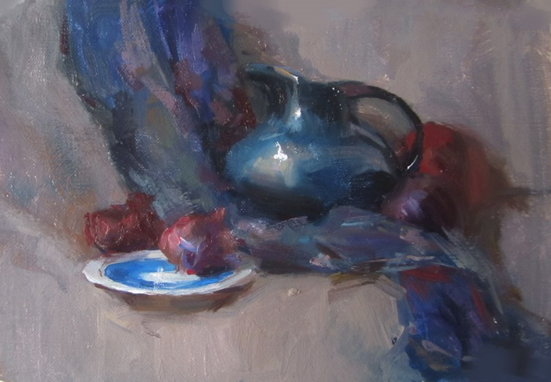 """""""untitled"""" original fine art by Taisia Kuklina"""