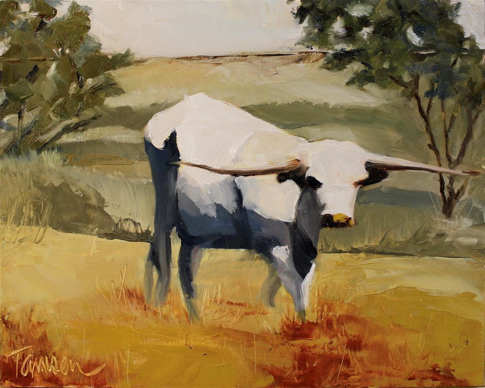 """Bodega Longhorn"" original fine art by Tamsen Armstrong"
