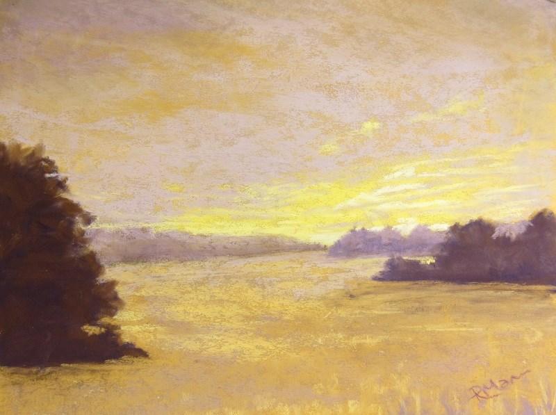 """""""Morning light"""" original fine art by Ruth Mann"""