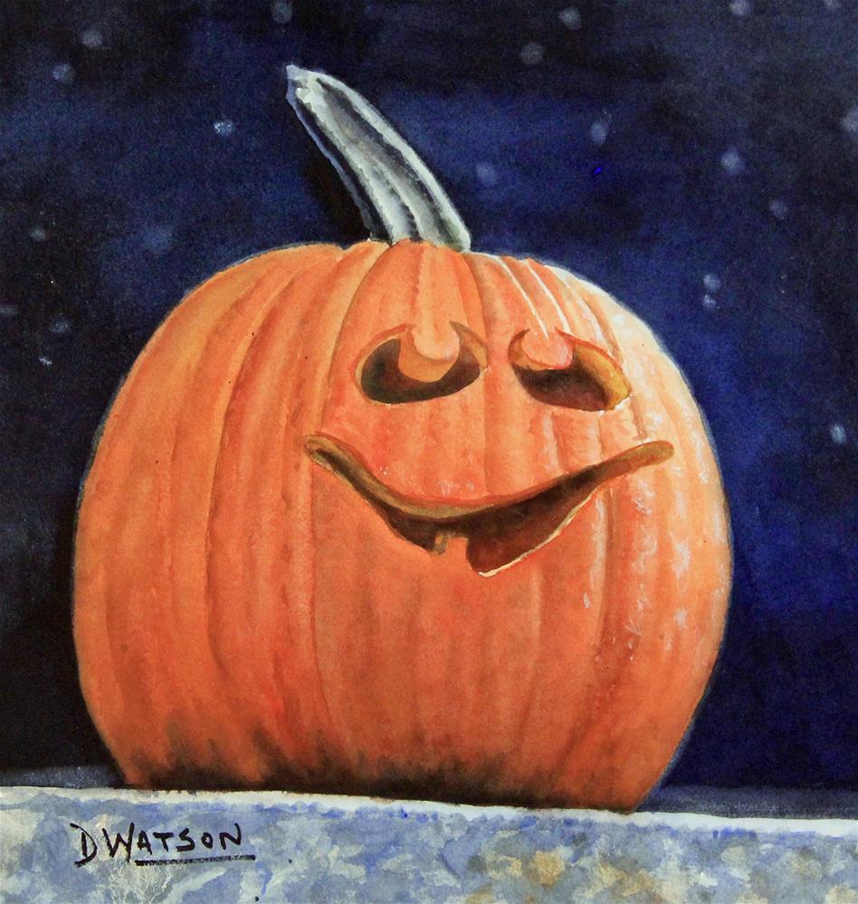 """""""Is It Halloween Yet?"""" original fine art by Deb Watson"""