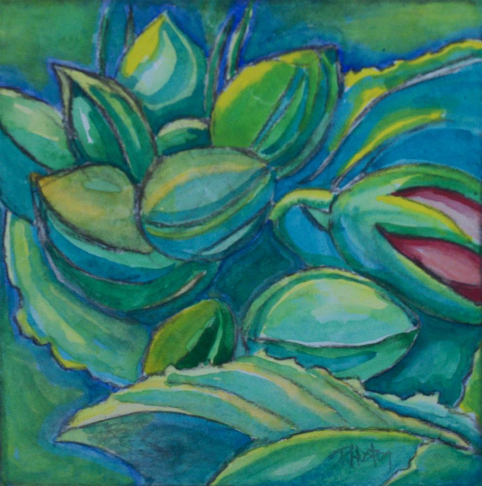 """Botanical Garden 11"" original fine art by Richard Huston"