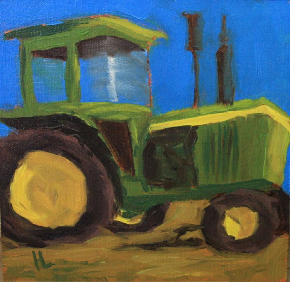 """Little John Deere"" original fine art by Heather Lehmberg"