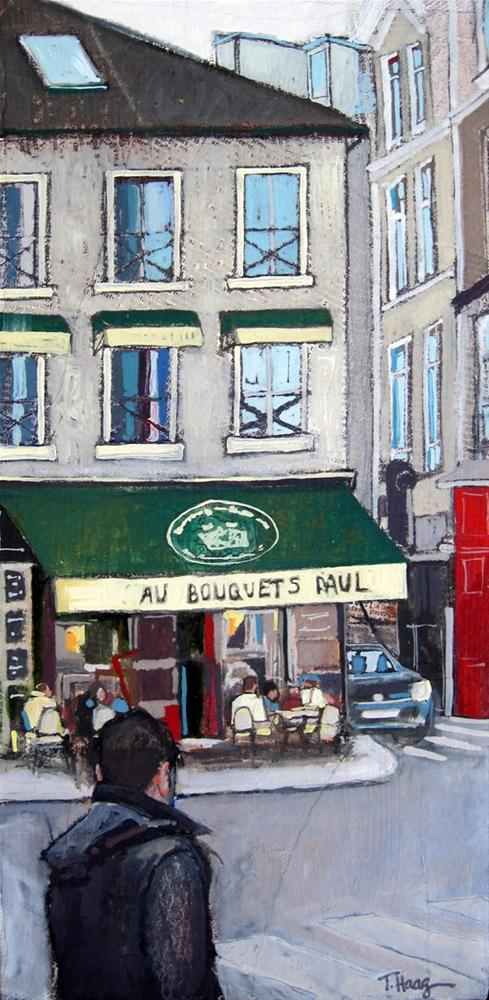 """A Paris Cafe"" original fine art by Teresa Haag"