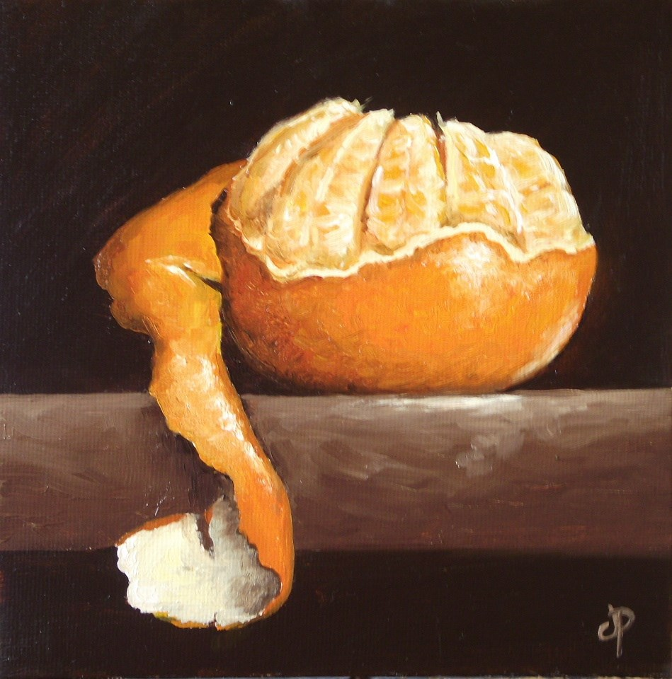 """Peeled Clementine"" original fine art by Jane Palmer"