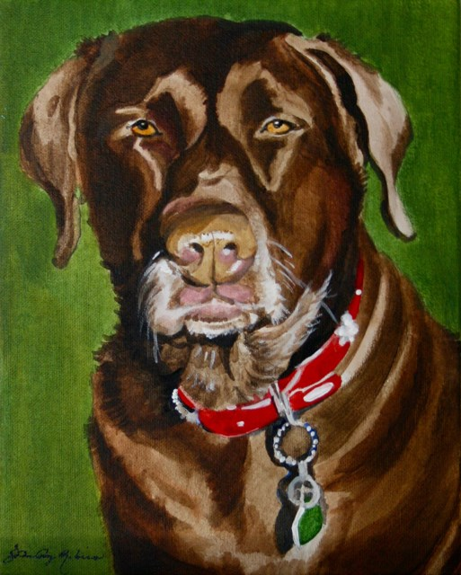 """Sadie the Lab"" original fine art by JoAnne Perez Robinson"