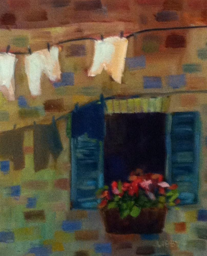"""Airing Laundry"" original fine art by Libby Anderson"