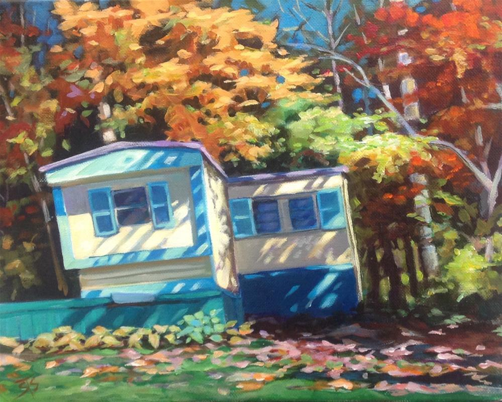 """Fall Lake Trailer"" original fine art by Susan Suraci"