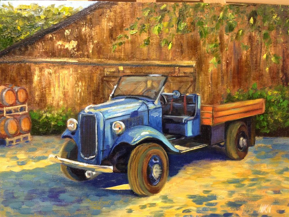 """""""1931 FORD FLATBED"""" original fine art by Nina K. Nuanes"""
