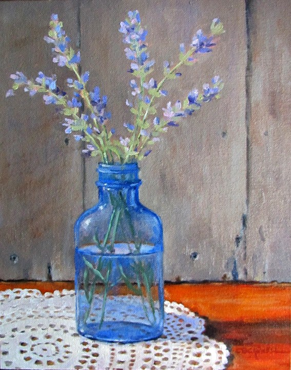 """""""LAVENDER BLUE II an Original Oil Painting by Claire Beadon Carnell"""" original fine art by Claire Beadon Carnell"""