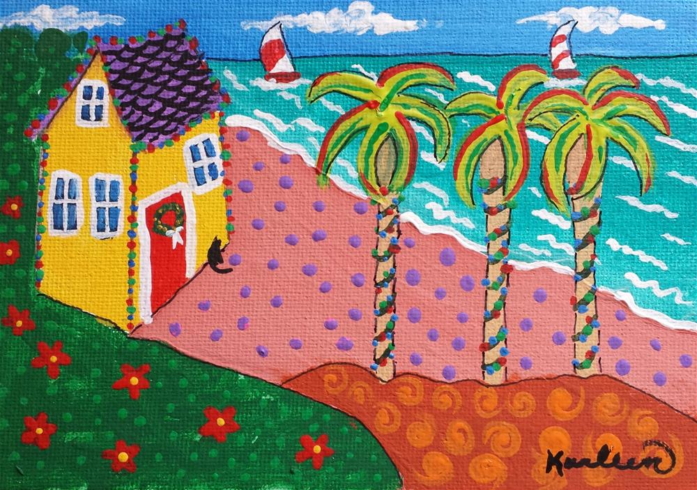 """A Floridian Holiday"" original fine art by Karleen Kareem"