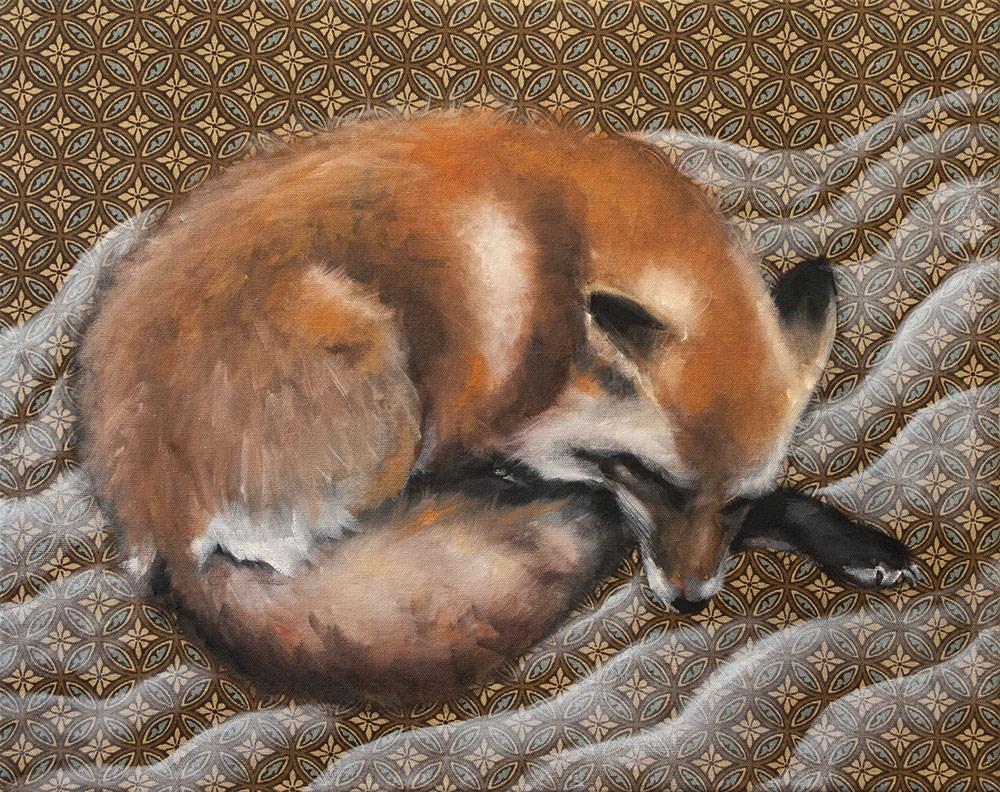 """""""Fox Dreams II"""" original fine art by Clair Hartmann"""