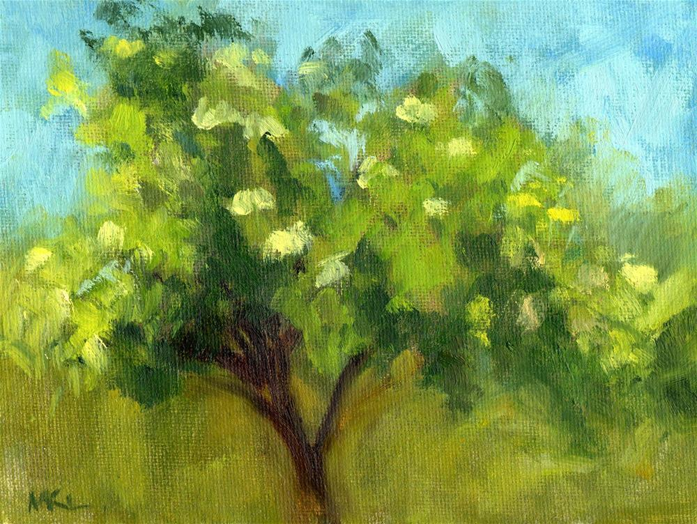 """Elderberry Tree"" original fine art by Marlene Lee"