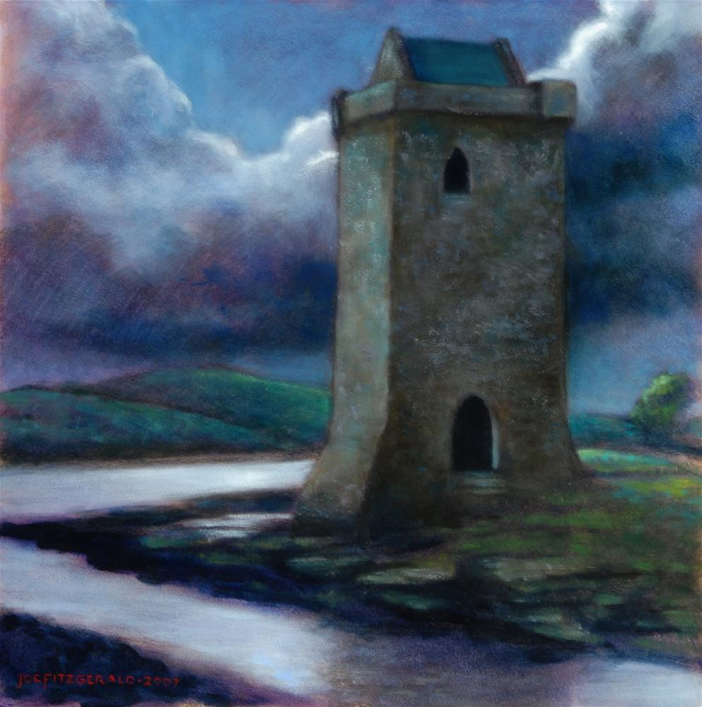 """Rockfleet Castle, County Mayo, Ireland"" original fine art by Joe Fitzgerald"