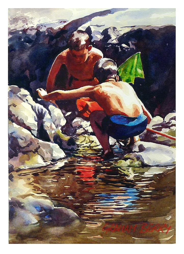 """""""Looking for Tiddlers."""" original fine art by Graham Berry"""