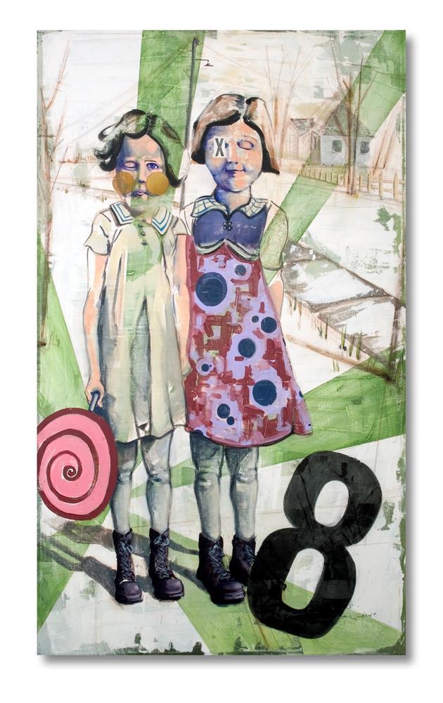 """Girls"" original fine art by Matthew Hilbish"